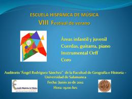 ESCUELA HISPÁNICA DE MÚSICA VII Festival de verano