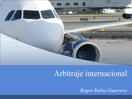 Arbitraje internacional - Cámara de Comercio de