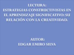 lectura Estrategias constructivistas en el