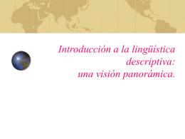 Introducción a la lingüística descriptiva: una
