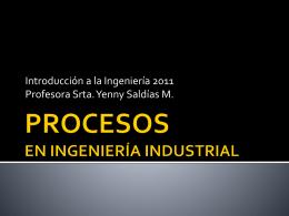 Procesos en ingeniería industrial