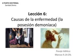 Lección 6: Causas de la enfermedad (la posesión