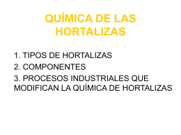 QUÍMICA DE LAS HORTALIZAS