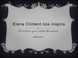 Elena Climent nos inspira