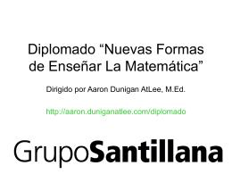 """Diplomado """"Nuevas Formas de Enseñar La Matemática"""""""