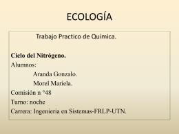 Ciclo del nitrogeno. - UTN