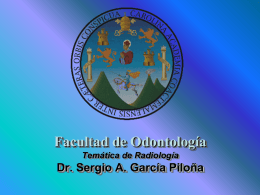 Facultad de Odontología Temática de Radiología