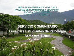 UNIVERSIDAD CENTRAL DE VENEZUELA FACULTAD DE