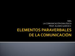 ELEMENTOS PARAVERBALES DE LA COMUNICACIÓN