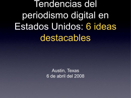 Tendencias del periodismo digital en Estados