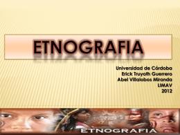 ETNOGRAFIA - trabajodegradolimav