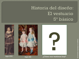 Historia del diseño: El vestuario