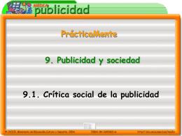 Crítica social de la publicidad (presentación en