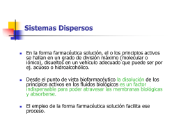 SISTEMAS DISPERSOS - chemestryeleven2014