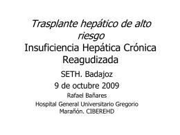 Insuficiencia Hepática Crónica Reagudizada