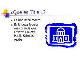 What is Title 1? - Henry Clay High School