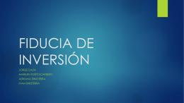 FIDUCIA DE INVERSIÓN