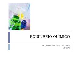 EQUILIBRIO QUIMICO - Quimica Analitica. UNEXPO |