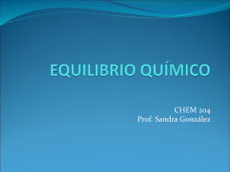 EQUILIBRIO QUÍMICO - Chem204`s Blog | Just
