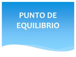 PUNTO DE EQUILIBRIO - Dina Castro Ramos |