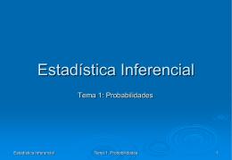 Tema 1: Introducción a la probabilidad