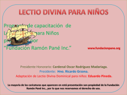Misioneritos - Fundación Ramón Pané | Catequesis y