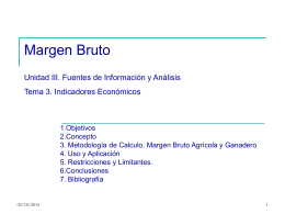 Margen Bruto - Escuela Agropecuaria
