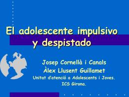 EL ADOLESCENTE IMPULSIVO Y DESPISTADO