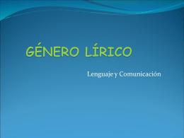 GÉNERO LÍRICO - palabrasqueseevaporan