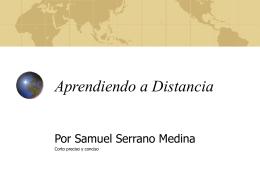 Aprendiendo a Distancia - Portafolio de Samuel