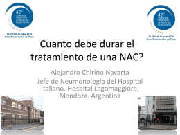 Cuanto debe durar el tratamiento de una NAC?