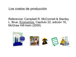 Capítulo 22: Los costos de producción