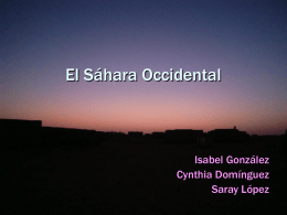 El Sáhara Occidental
