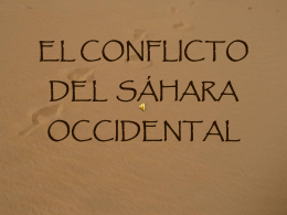 EL CONFLICTO DEL SÁHARA OCCIDENTAL