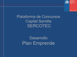 Plataforma de concursos Capital Semilla Plan