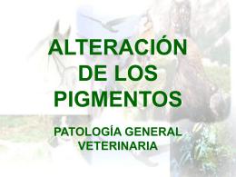 ALTERACIÓN DE LOS PIGMENTOS