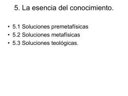 5. La esencia del conocimiento.