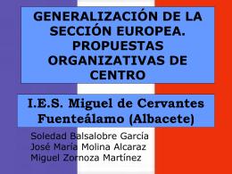 I.E.S. Miguel de Cervantes Fuenteálamo (Albacete)