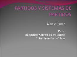 PARTIDO Y SISTEMAS DE PARTIDOS