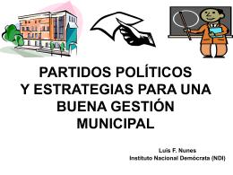PARTIDOS POLÍTICOS Y ESTRATEGIAS PARA UNA BUENA