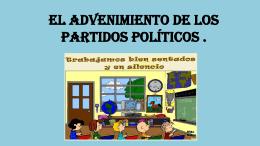 El advenimiento de los partidos políticos