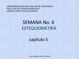 ESTEQUIOMETRIA - QUIMICA | Licda. Bárbara Jannine