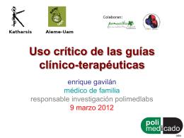 Uso crítico de las guías clínico