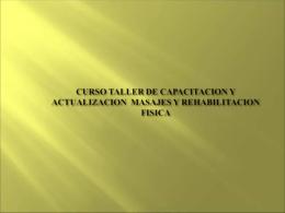CURSO TALLER DE CAPACITACION Y ACTUALIZACION