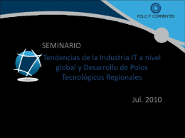 Tendencias de la Industria IT a nivel global y