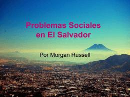 Problemas Sociales en El Salvador -