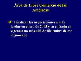 Objetivos Generales del ALCA