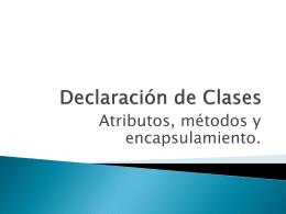 Declaración de Clases