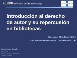 Introducción al derecho de autor y bibliotecas
