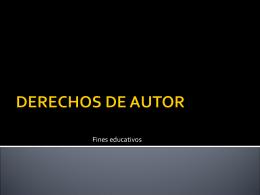 DERECHOS DE AUTOR - contableyjuridico